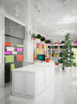 дизайн магазин цветов